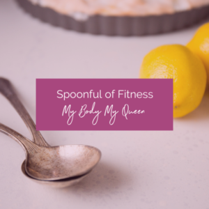 Spoonful of Fitness icon with spoons and lemons in the background